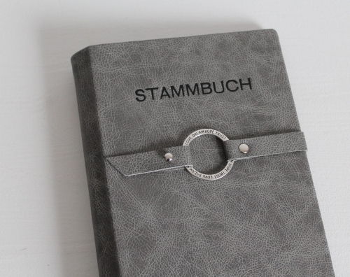 "Stammbuch ""Love · Dream · Hope · Trust"" aus Leder, grau"